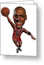 Michael Jordan Greeting Card by Art