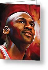 Michael Jordan Artwork 2 Greeting Card by Sheraz A