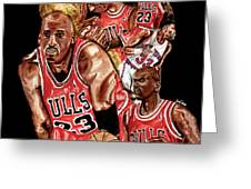 Michael Jordan Greeting Card by Israel Torres