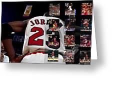 Michael Jordan Greeting Card by Joe Hamilton