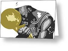 Michael Jordan Greeting Card by Mike Maher
