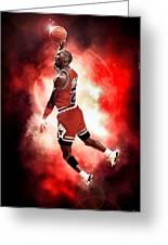 Michael Jordan Greeting Card by NIcholas Grunas Cassidy