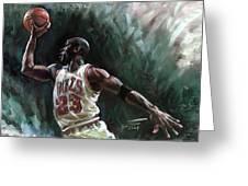 Michael Jordan Greeting Card by Ylli Haruni