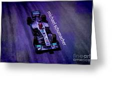 Michael Schumacher Greeting Card by Marvin Spates