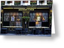 Michaels''s Pub Greeting Card by David Pyatt