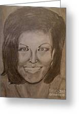 Michelle Obama Greeting Card by Irving Starr
