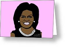 Michelle Obama Greeting Card by Jost Houk