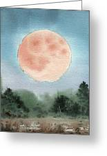 Michigan Supermoon  Greeting Card by Sean Seal