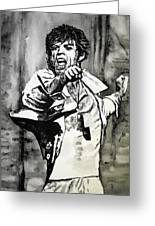 Mick In Motion II Greeting Card by Todd Spaur
