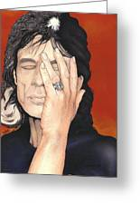 Mick Jagger Greeting Card by Andrea Schiavetti
