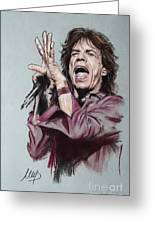 Mick Jagger Greeting Card by Melanie D
