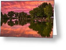 Mid Summers Sunset Greeting Card by Bjorn Burton
