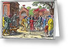 Middle Ages Dancing Mania Greeting Card by Granger
