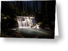 Middle Mccloud Falls Greeting Card by Scott McGuire