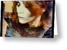Midnight Darkness Greeting Card by Linda Sannuti