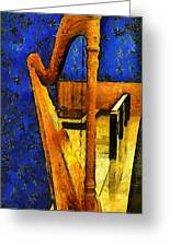 Midnight Harp Greeting Card by RC DeWinter