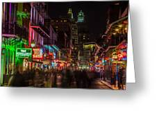 Midnight On Bourbon Street Greeting Card by John McGraw