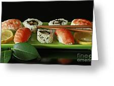 Midnight Sushi Indulgence Greeting Card by Inspired Nature Photography By Shelley Myke