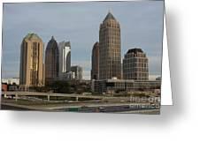Midtown Atlanta Greeting Card by Reid Callaway