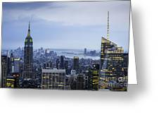 Midtown Manhattan Greeting Card by Ray Warren