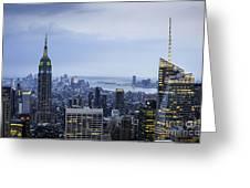 Midtown Manhattan Greeting Card by Ray Warren