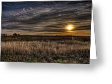 Midwest Sunrise Greeting Card by Jeff Burton