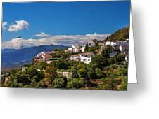 Mijas. White Village Of Spain Greeting Card by Jenny Rainbow