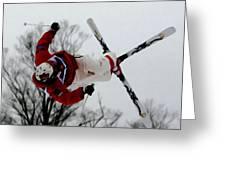 Mikael Kingsbury Skiing Greeting Card by Lanjee Chee
