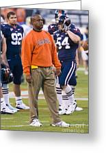 Mike London University Of Virginia Football Greeting Card by Jason O Watson