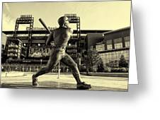Mike Schmidt At Bat Greeting Card by Bill Cannon