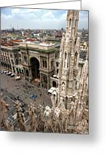 Milan Cathedral Square Greeting Card by Gregory Dyer