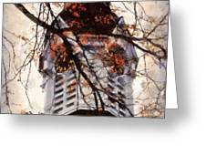 Milford Clock Tower vintage Greeting Card by Janine Riley