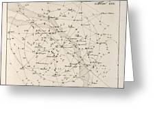 Milky Way Constellations, 1829 Greeting Card by Science Photo Library