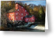 Mill - Clinton Nj - The Old Mill Greeting Card by Mike Savad