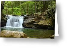 Mill Creek Falls #1 Greeting Card by Joel E Blyler