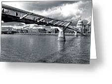 Millennium Foot Bridge - London Greeting Card by Mark Tisdale