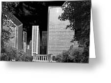 Millennium Park Monument - The Colonnade - Wrigley Square Chicago Greeting Card by Christine Till