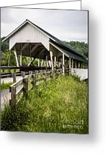 Millers Run Covered Bridge Greeting Card by Edward Fielding