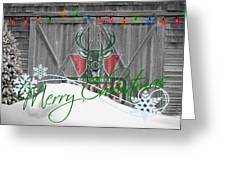 Milwaukee Bucks Greeting Card by Joe Hamilton