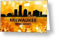 Milwaukee Wi 3 Greeting Card by Angelina Vick