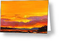 Mimosa Sunrise Greeting Card by Mike Savlen