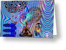 Mind Bender Greeting Card by Jason Saunders