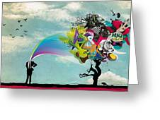 Mind Outburst Greeting Card by Gianfranco Weiss