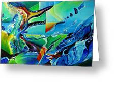 mindscape no.2-Improvisation Saxophone and Piano Greeting Card by Wolfgang Schweizer