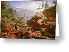 Miners In The Sierras Greeting Card by Charles Nahl