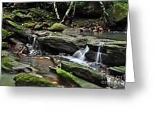Mini Waterfalls Greeting Card by Kaye Menner
