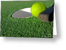 Miniature Golf Greeting Card by Olivier Le Queinec