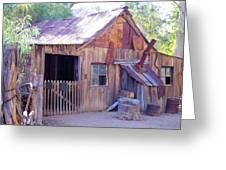 Mining Cabin Greeting Card by David Rizzo