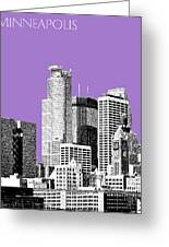 Minneapolis Skyline - Violet  Greeting Card by DB Artist