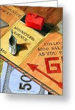 Minneford Monopoly Greeting Card by Marguerite Chadwick-Juner